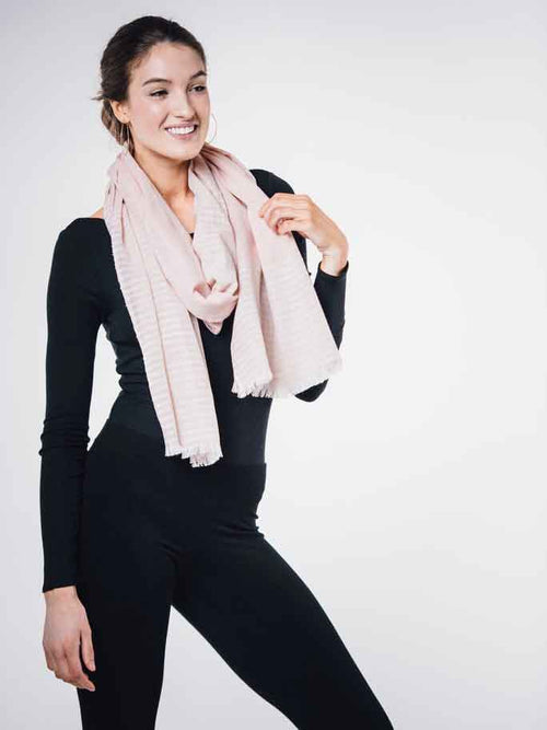 Luxury Blush Cotton Scarf