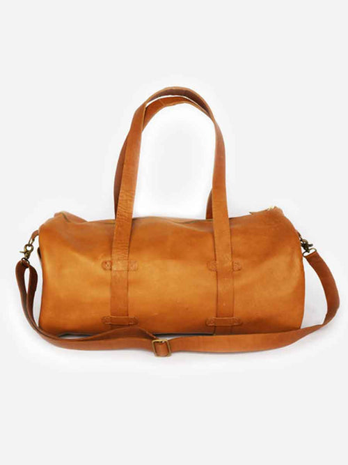 Tan Leather Duffle