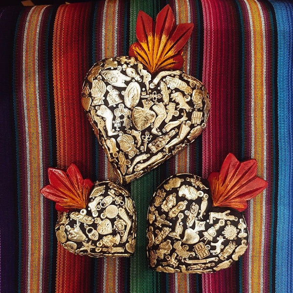 Mexican Milagro Heart - Medium