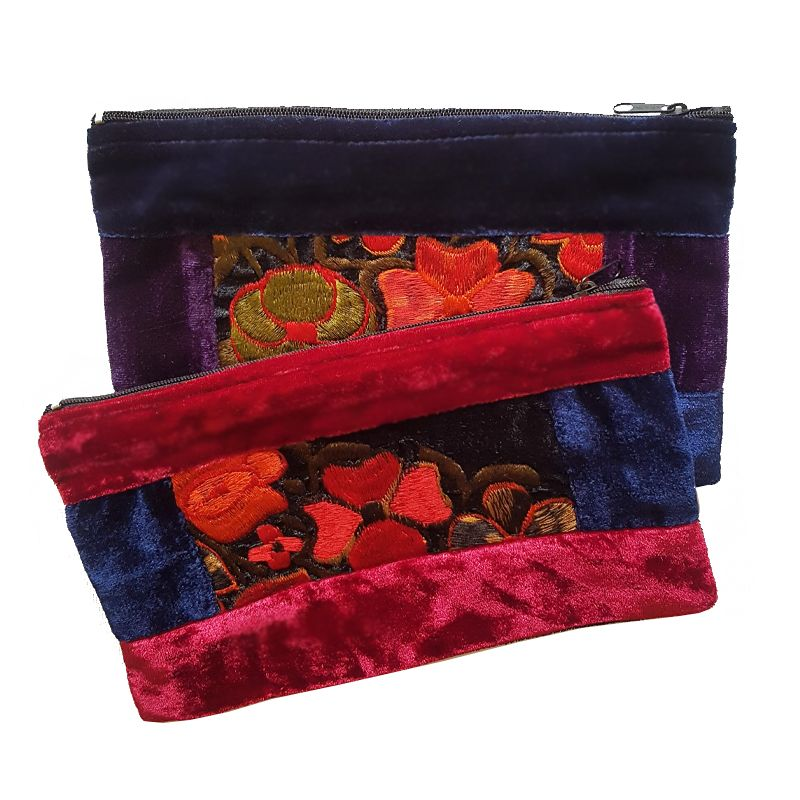 Guatemalan Velvet Embroidered Purse - Origen Imports