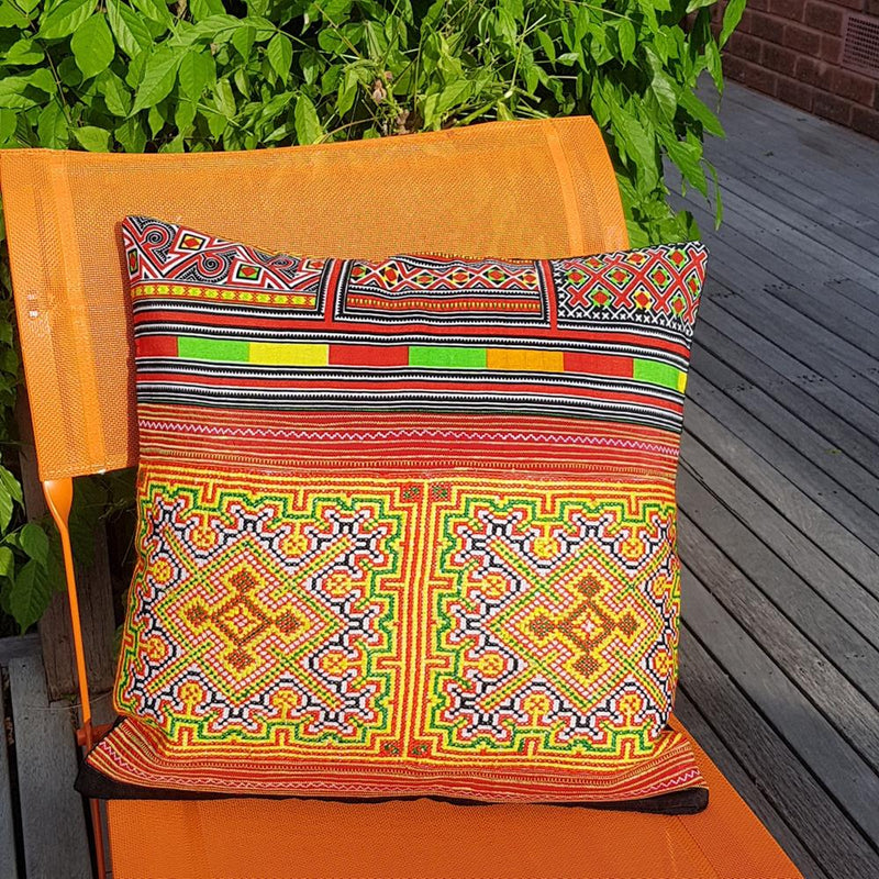 Hmong Thai Cushion Cover By Origen - Origen Imports