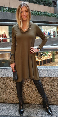 Turtle Neck Dress By Origen