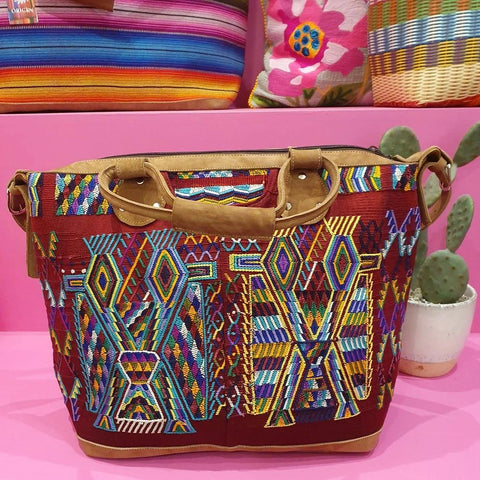 Guatemalan Huipil Weekender Bag - Medium