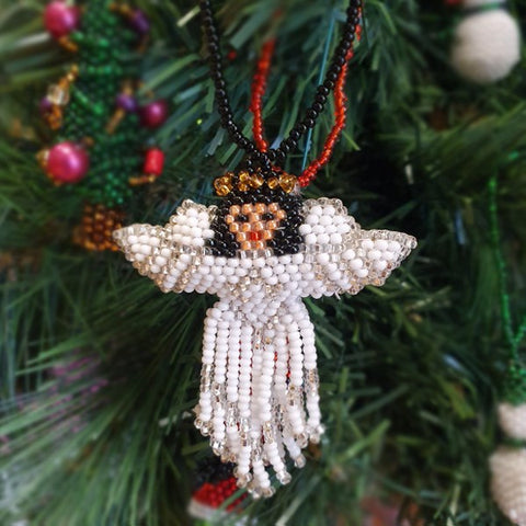 Beaded Angel Christmas Decoration