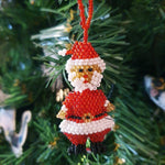 Beaded St Klaus Christmas Decoration - Origen Imports