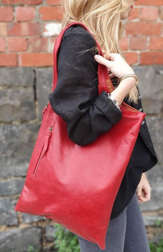 Ana Leather Bag By Origen - Red