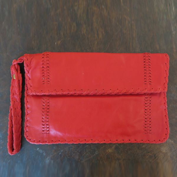 Nyree Leather Clutch By Origen - Red