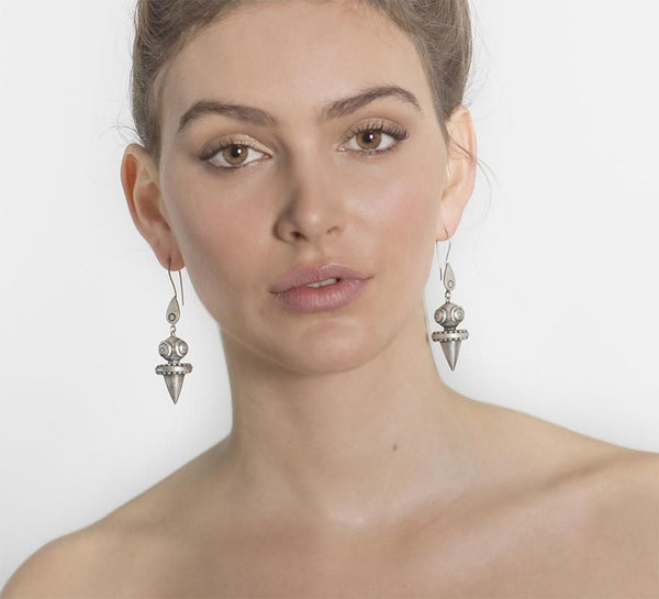 Tawn Earrings By Zoemou - Silver