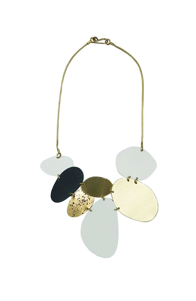 Beach Stones Necklace By Sibilia - Mix Black