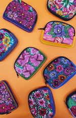 Guatemalan Floral Cosmetic Purse XS