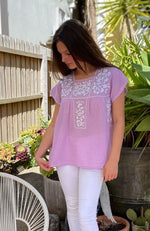 Mexican Inspired Short Sleeve Top By Origen