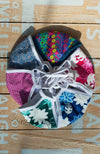 Reusable Face Mask Horizontal Flowers