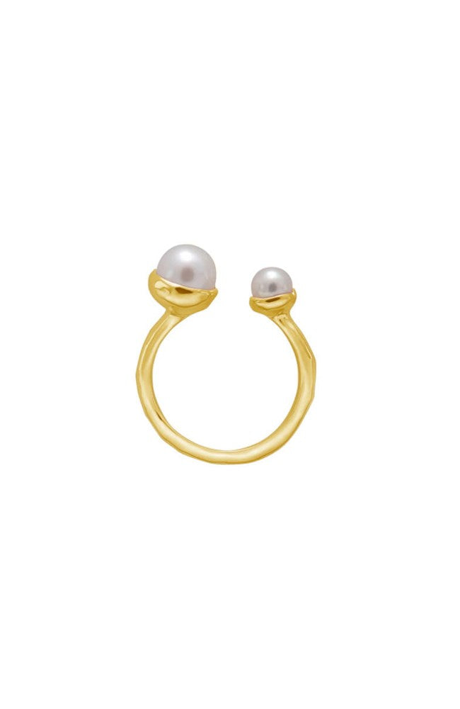 PRE-ORDER // Riviera Double Pearl Ring By Murkani
