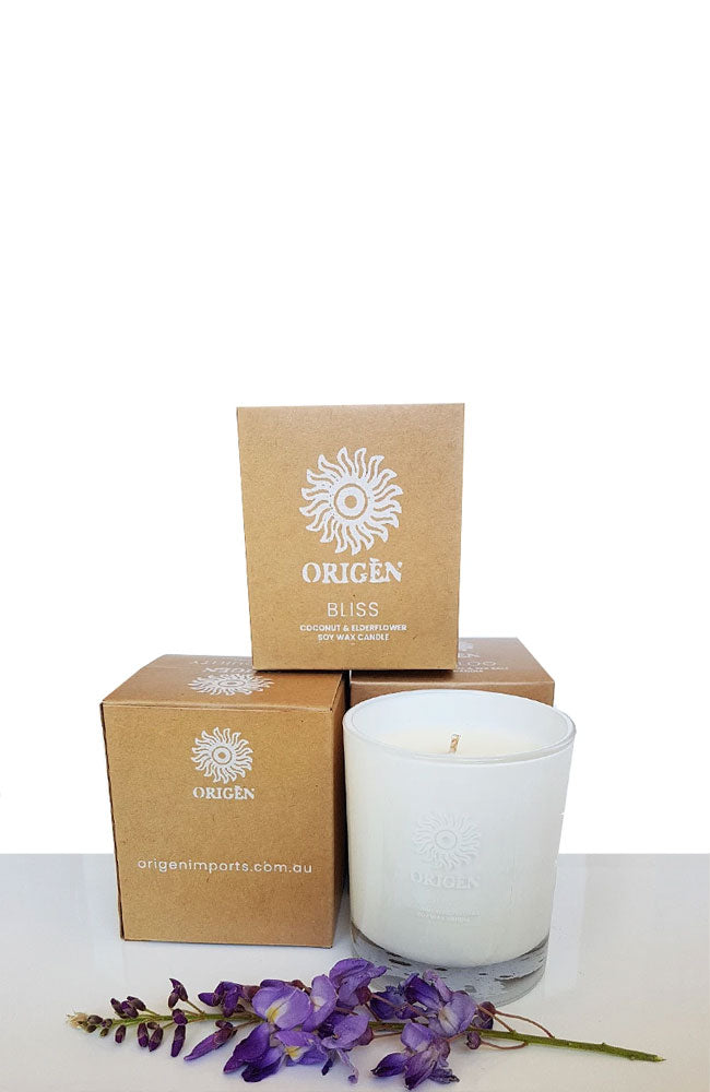Bliss Soy Candle By Origen - Double Scented