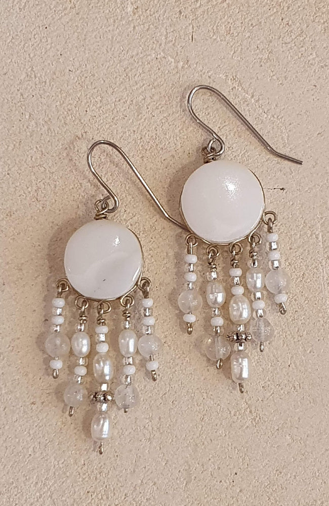 Peruvian Earrings With Cilinder Dangles