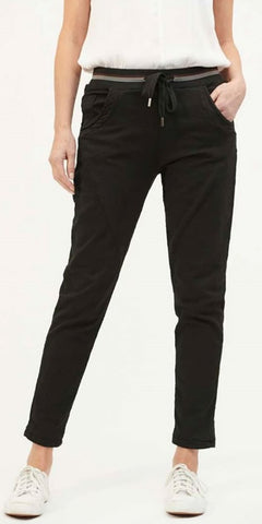 Black Ralph Jogger Jeans By Italian Star
