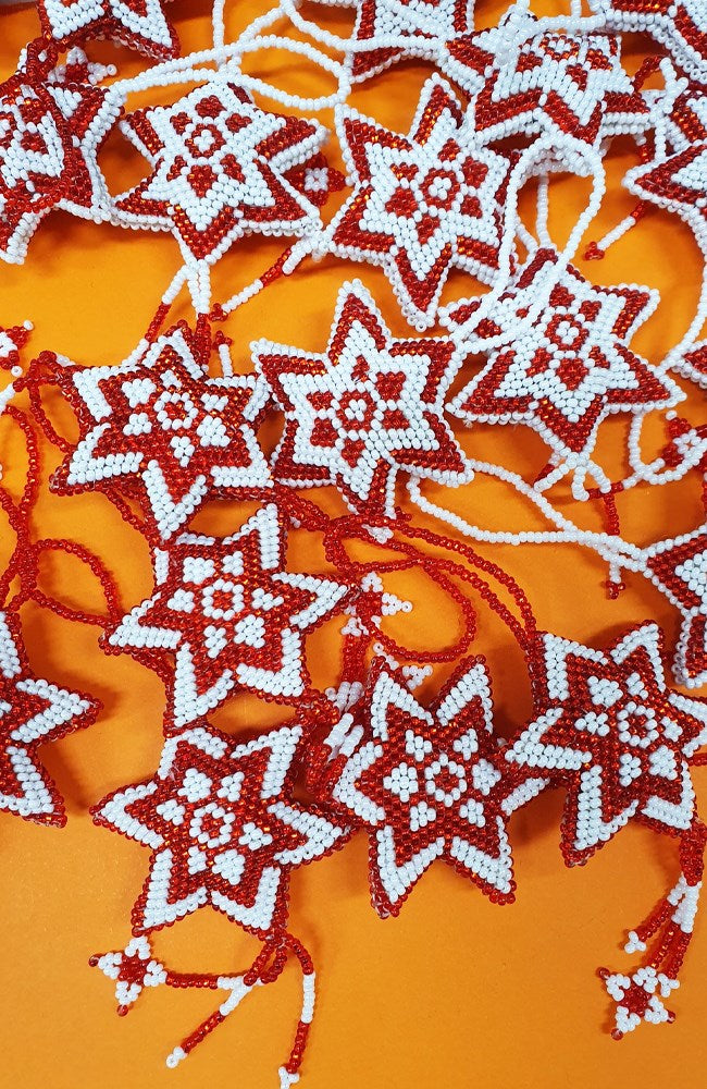 Guatemalan Beaded Star Decoration