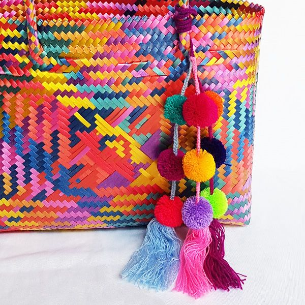 Large PomPom Bag Accessory By Origen