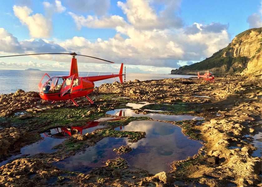 HELI-FISHING ON THE ROCKS