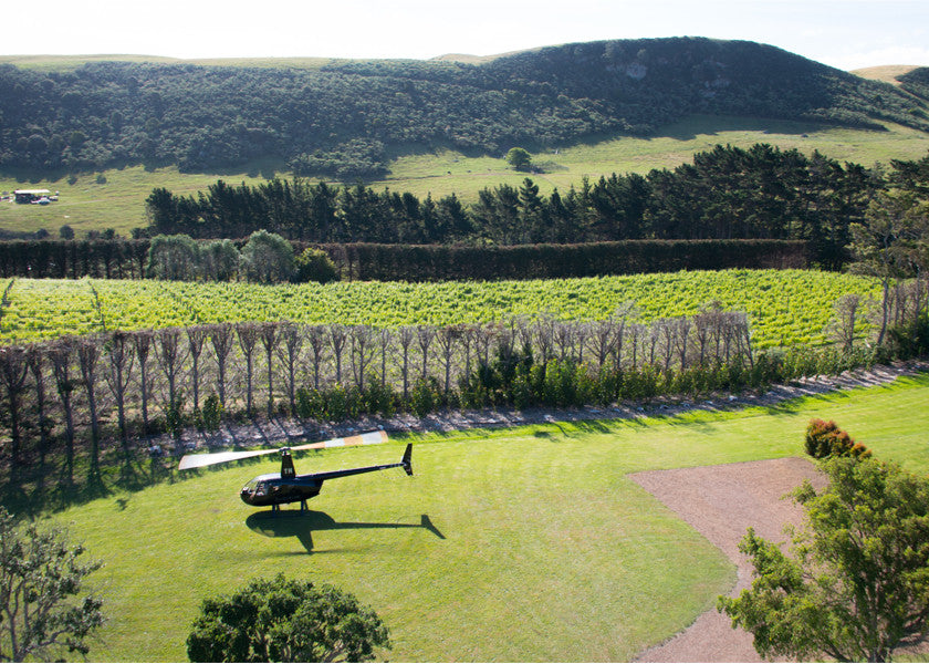 HELI-DINING ON WAIHEKE ISLAND