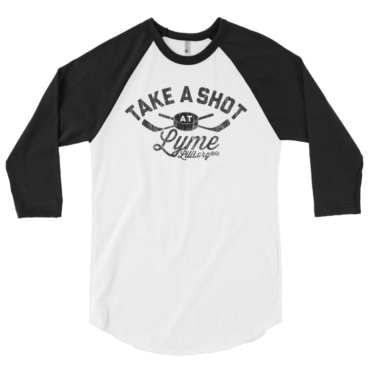 LymeLilli ® Take-a-Shot at Lyme Raglan Tee's | Unisex