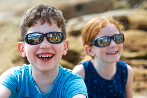 Protective sunglasses at school Australia - two kids wearing Beamers eyewear