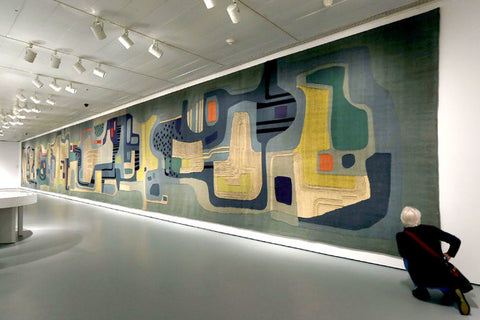 Roberto Burle Marx made this tapestry in 1969 for the Santo André Civic Center. Hiroko Masuik//The New York Times