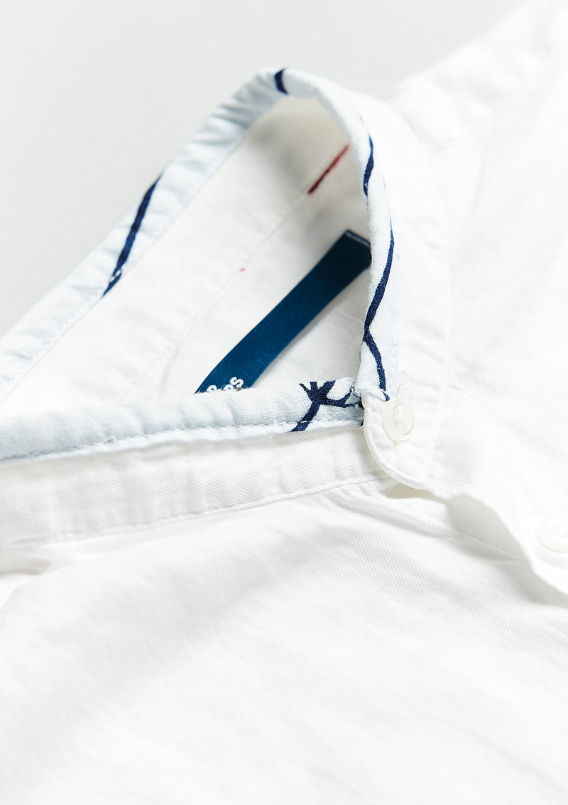The Blue on White Nehru Shirt