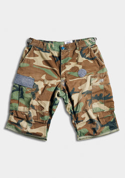 The Blue in Green Camo Cargo Shorts