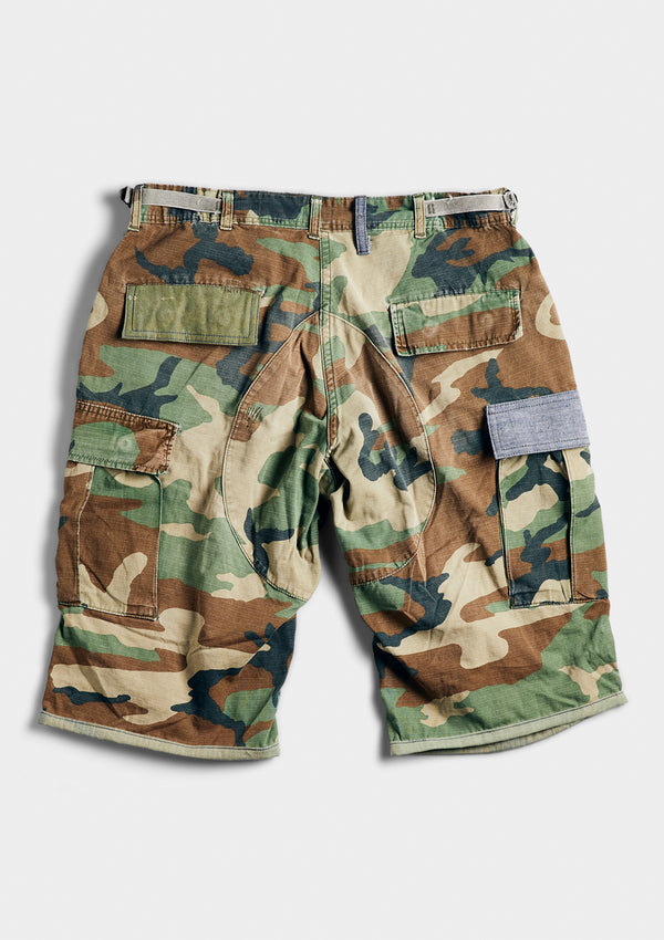 Blue in Green Camo Shorts