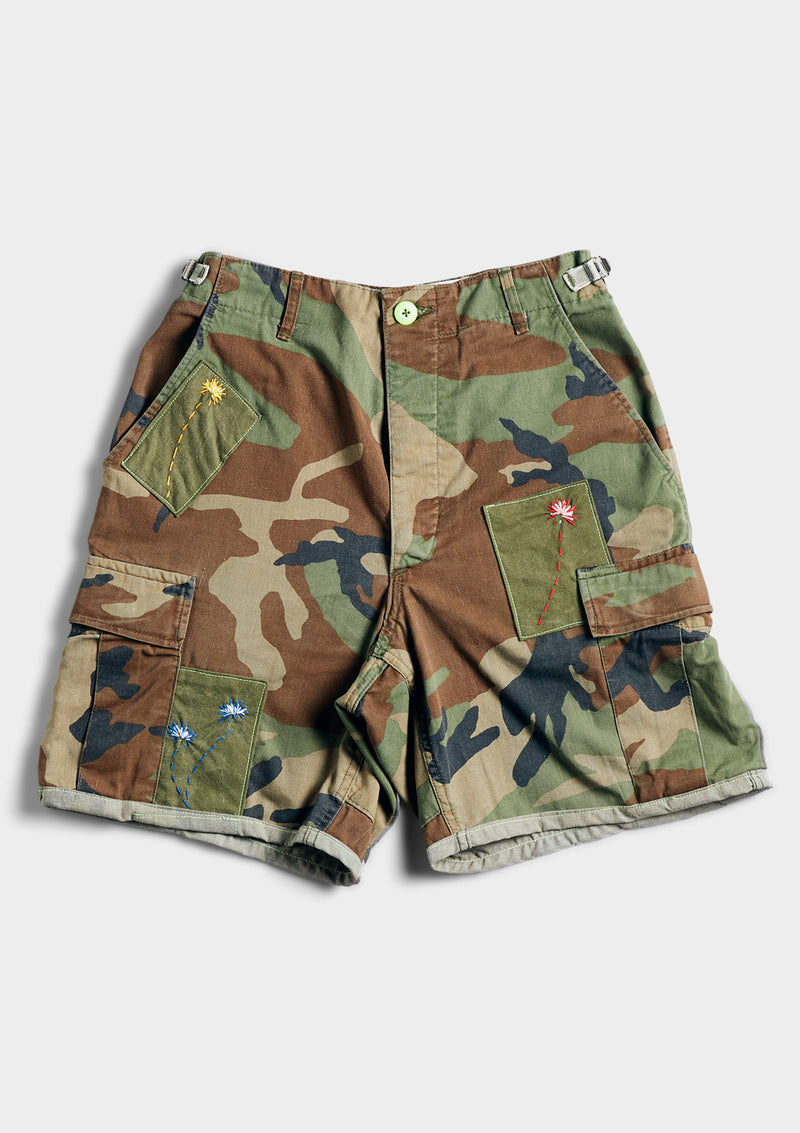The Little Green Camo Cargo Short