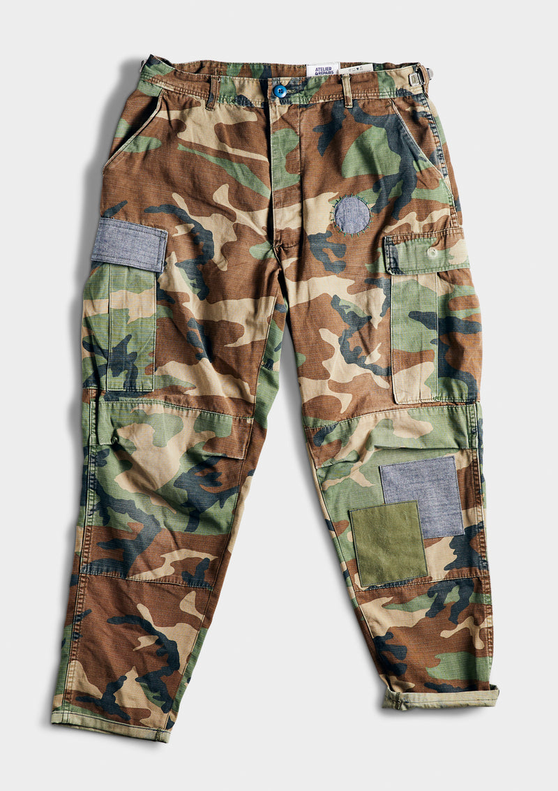 Blue in Green Camo Cargo
