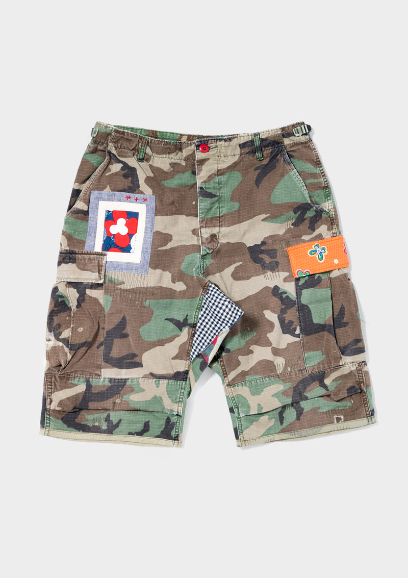The Camo Cargo Shorts on LSD