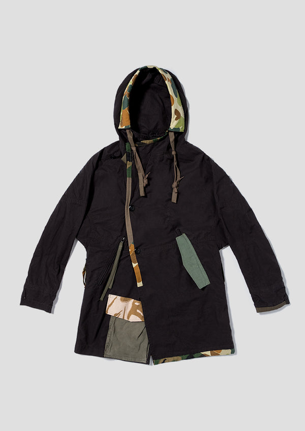 Black Rabbit Parka - Black
