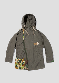 Black Rabbit Parka - Gray