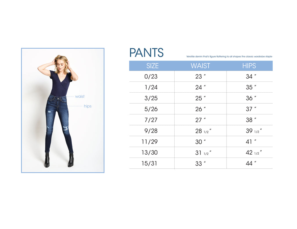 Size Chart Pants Plus Size Jeans Shorts Women S Clothes