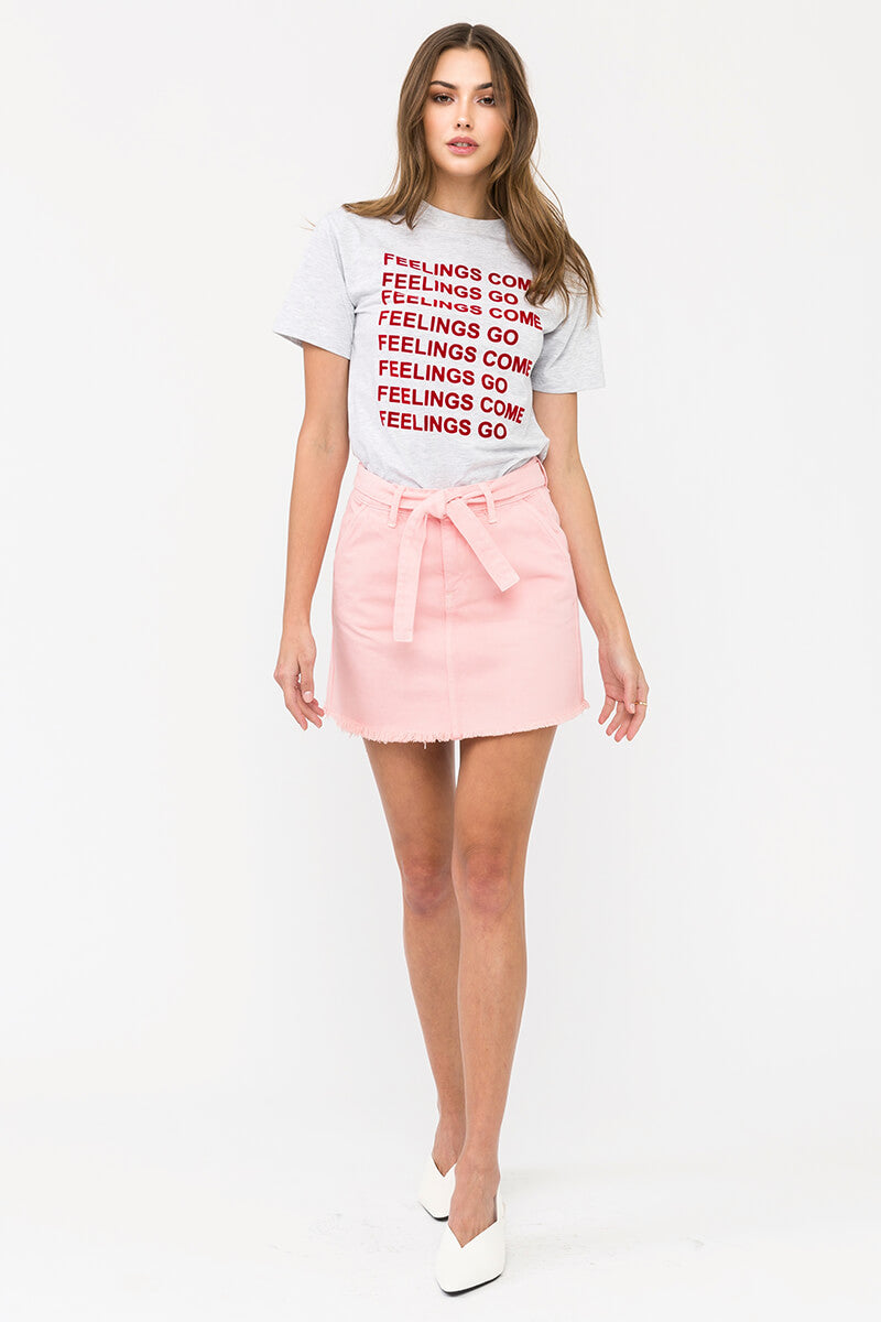B.Pink Belted Mini Skirt - Official Kancan USA
