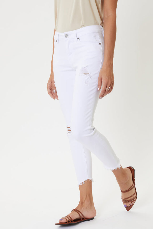 Brianna Mid Rise Cropped Skinny Jeans Official Kancan Usa