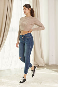 Milo High Rise Ankle Skinny - Curvy - Official Kancan USA