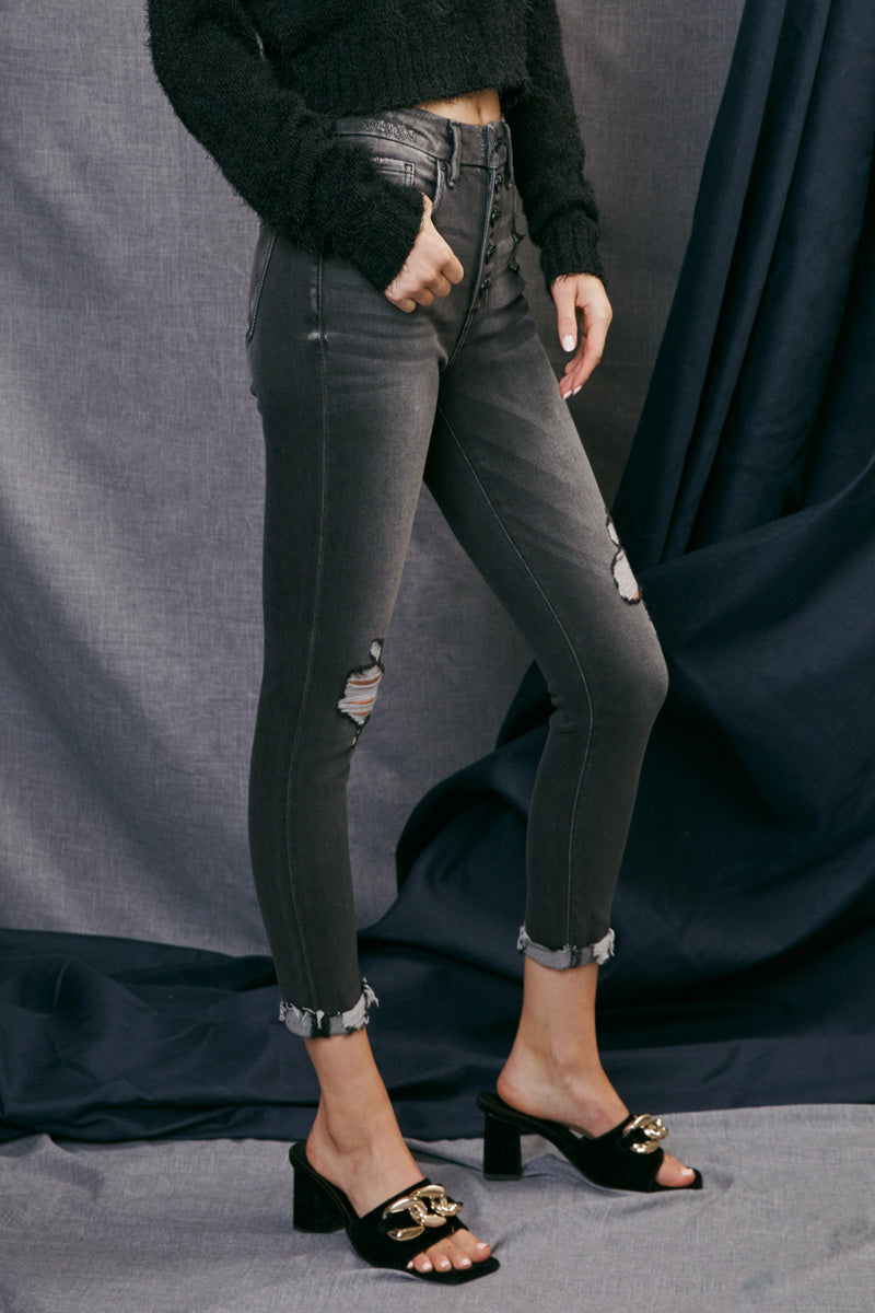 Brixley High Rise Ankle Skinny - Official Kancan USA