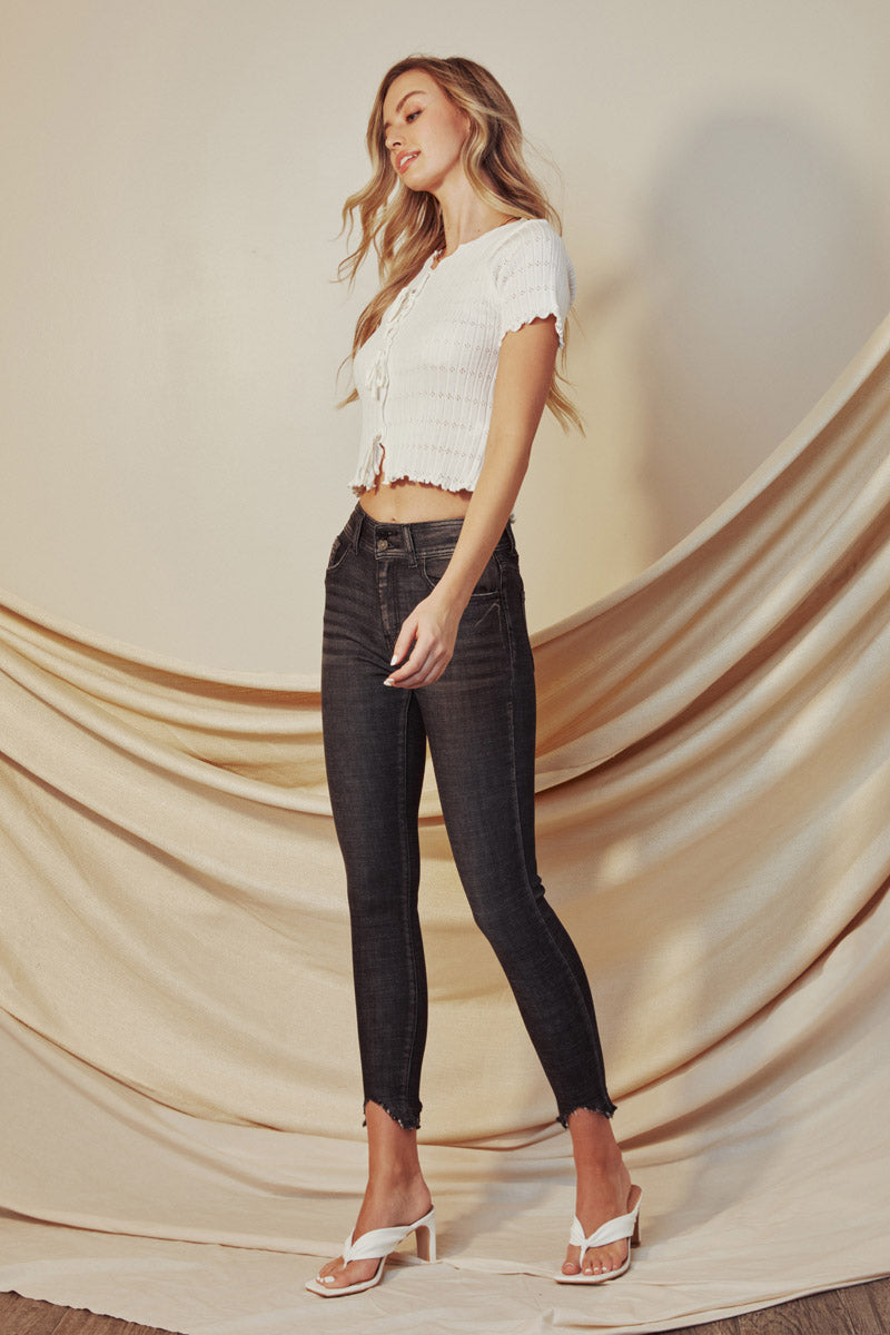 Cyrus High Rise Ankle Skinny - Official Kancan USA