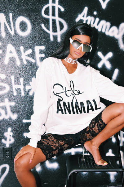 Styleanimal long sleeve oversized tee