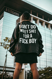 """Don't"" windbreaker PRE ORDER SHIPS ON OR BEFORE 1/18"