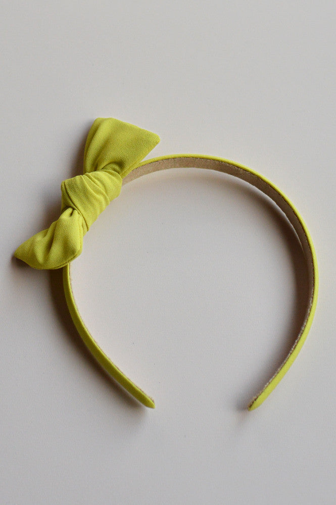 Zow Headband with bow Gold