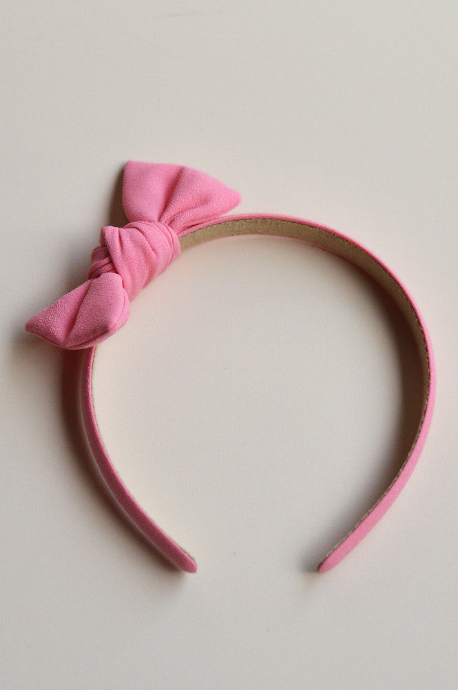 ZOE HEADBAND WITH BOW PINK
