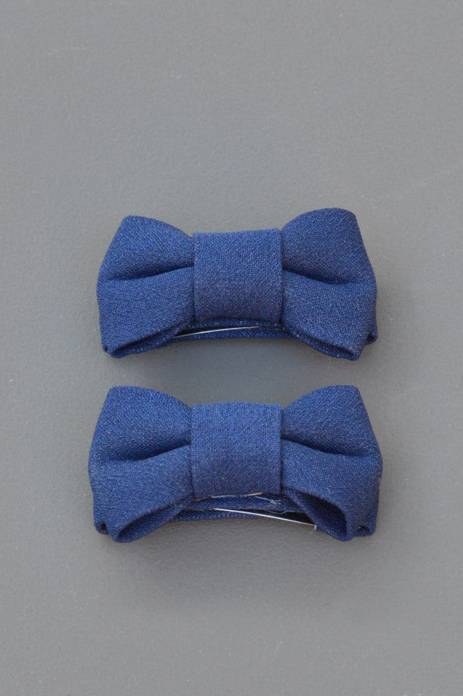 Katie Twin Bow Snaps Navy