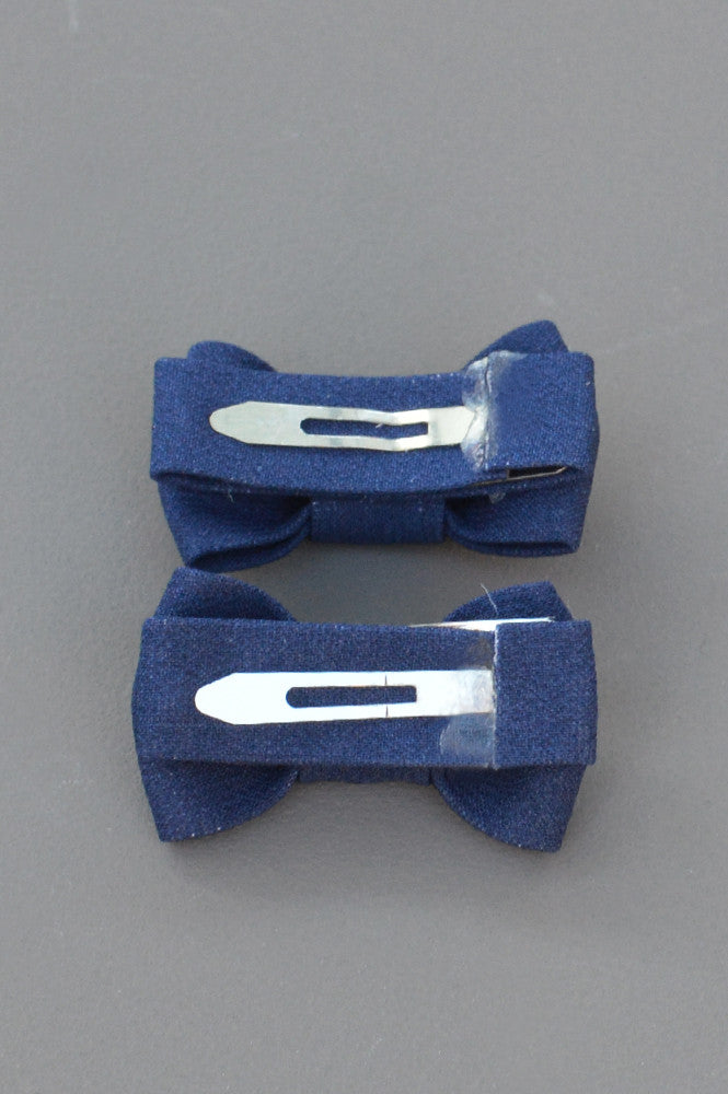 KATIE TWIN BOW SNAPS - NAVY