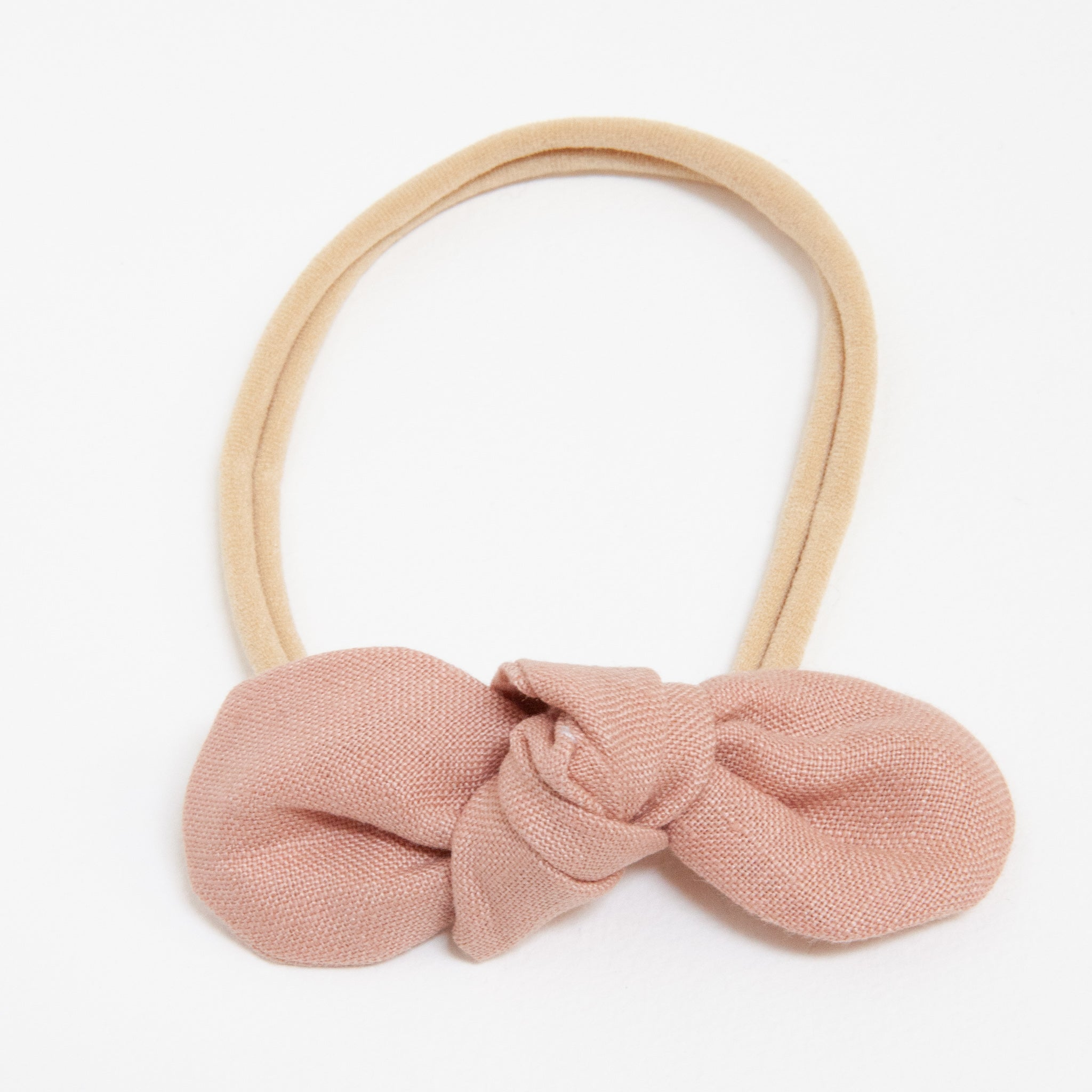 Anna Baby Elastic Large Bow Blush