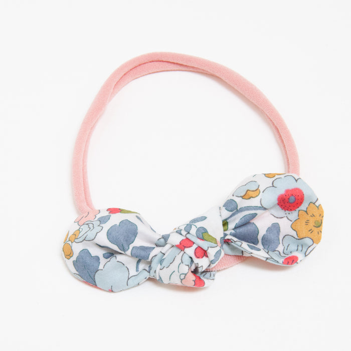 ANNA BABY ELASTIC LARGE BOW - POWDER BLUE