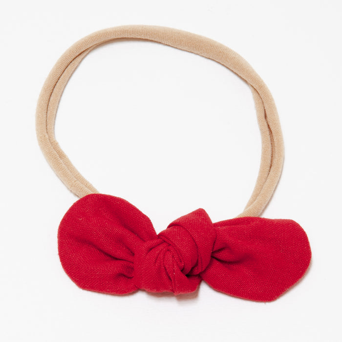 ANNA BABY ELASTIC LARGE BOW - RED